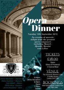 Opera Dinner - 10th September 2019